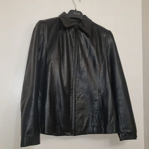 DANIER Black All Leather Classic Slim Men's Jacket